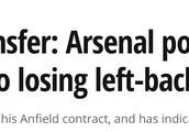 莫雷诺将成自由球员,阿森纳有意引进