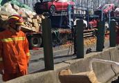 大广高速28车相撞最新伤亡情况 大广高速28车相撞现场高清大图