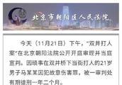 用格斗术打人,北京双井打人案男子被判一年二个月