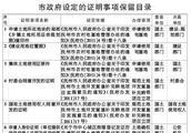 抚州市人民政府关于公布保留和取消市政府设定的证明事项目录的通知