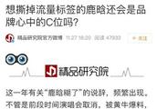 181129 想撕掉流量标签的鹿晗还会是品牌心中的C位吗?