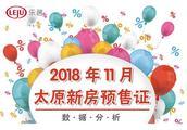 2018年11月太原共颁发30张预售证 共涉及21个项目