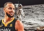 超级球星库里不信人类登月引发争议,网友调侃库里言论