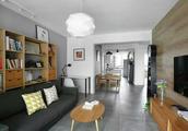 朋友买的97.3平米二居室,全包一共才花9万,这现代风格太美了!-晋合金桥世家装修