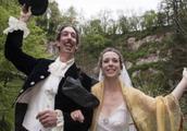 这对夫妇把婚礼地点定在悬崖上,因为害怕危险,无人肯出席参加!