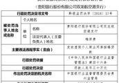 贵阳银行某支行违法发放虚假个人按揭贷款 遭银监处罚