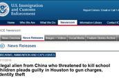 美政府:一中国非法移民威胁杀害美学龄儿童被抓