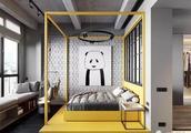 45㎡公寓设计成现代工业风,卧室的床太个性!飘窗设计也实用