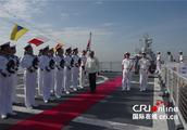 菲律宾国防部长洛伦扎纳参观中国海军539编队芜湖舰