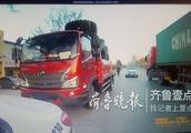 大货车伪造临牌超载上路,泰安交警将其查获