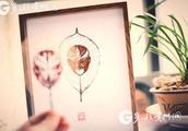 落叶上的京剧脸谱 贵州小伙制作的趣味叶雕作品