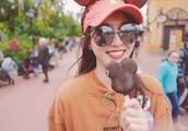 唐嫣迪士尼游玩照,老公视角下的甜美小公主