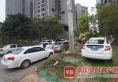 """南宁一小区车位""""只售不租"""",未买车位的车主在小区外违停被罚"""