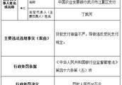 农业发展银行武汉江夏违法遭罚 贷款支付审查不严