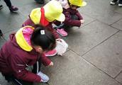 正月十五元宵节,济南一群小学生聚集泉水畔清理垃圾