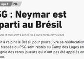 队报:内马尔又跑回巴西养伤了