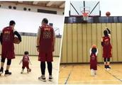 Baby黄晓明为儿子庆生!小海绵打篮球的样子好帅气!