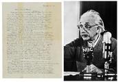 """爱因斯坦亲笔信""""上帝之信""""拍卖,289万美元成交"""