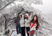 黄山风景区大雪持续,雪景绝美
