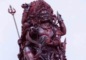 小叶紫檀大黑天财富之神,专治疾病之医神与财富之神,力量感强