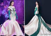 杨幂春晚礼服优雅惊艳,网友看见刘涛的造型表示还是这套更美