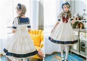 海军水手风洛丽塔,制服与lo裙的结合,可爱中带着帅气