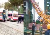 陕西汉中一工地发生安全事故:塔吊倒塌致3人死亡