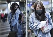 39岁陈乔恩机场素颜单衣现身,被冻到起寒冷性过敏红疹