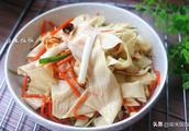 豆腐皮别再炒着吃了,这样做开胃下饭还补钙,一直喜欢这样吃!