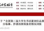 中国书协严肃处理13名国展入展作者,让书法抄袭者无栖身之地!