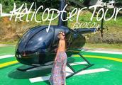 坐直升机俯瞰整个长滩岛全岛,用不同的角度旅行去感受所处之地