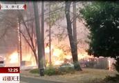 美国加州山火,天堂小镇被烧毁