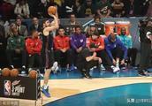 NBA全明星周末!乔-哈里斯力压库里夺三分大赛冠军 !