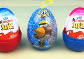 托马斯小火车分享超级飞侠玩具蛋 kinder奇趣蛋