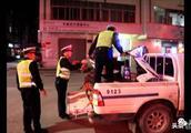 """贵港平南严查""""炸街党"""",查扣非法改装摩托车183辆"""