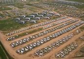 美国15000亩的停机厂,停着5000架退役的战机