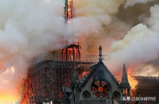 有800多年历史的法国巴黎圣母院突发火灾