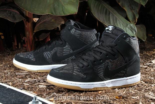 "SB DUNK HIGH ""RAINFOREST""实物"
