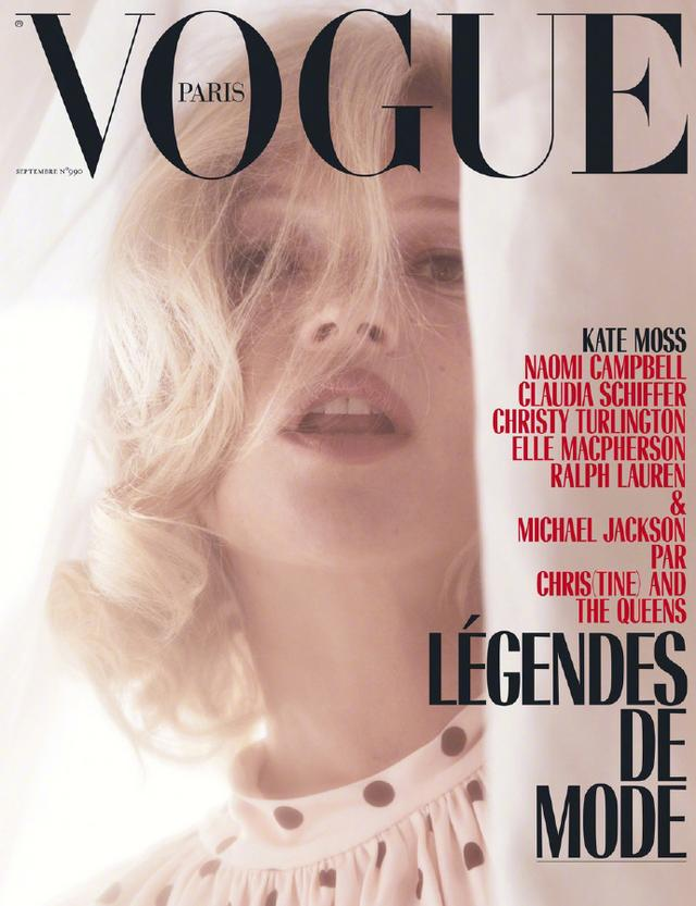 Kate Moss for Vogue Paris September 2018——法国版《Vogue》