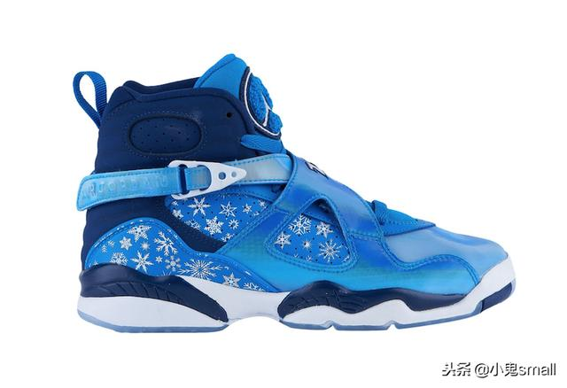 "全新冬季配色!Air Jordan 8 GS ""Snowflake"" 即将发售"