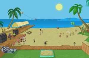 不愧是飞哥跟小佛,竟然把自家的后院改造成了海滩!真是太强大了