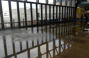 """启用半年候车室变""""水池"""" 地震致花莲火车站水管断裂"""