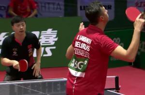 世乒赛:国乒大满贯马龙4-1胜老将萨姆索诺夫,晋级男单第四轮