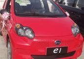 村口偶遇比亚迪e1低配版,这可能是同价位里廉价感最强的车
