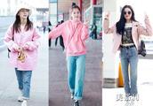 春天就要做个甜美可人的少女,跟着明星一起用粉色系来减龄穿搭